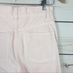 MADEWELL pink high rise straight leg cropped jeans
